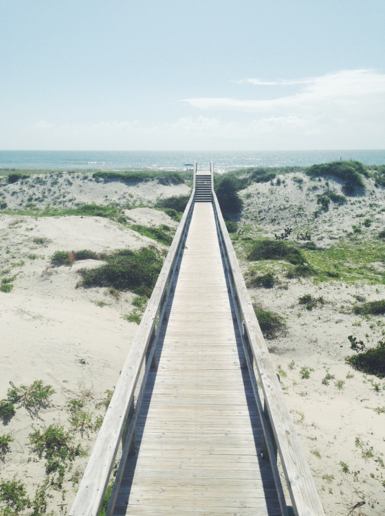 walkway across the dunes
